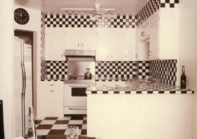 Noe Valley Black and White Kitchen